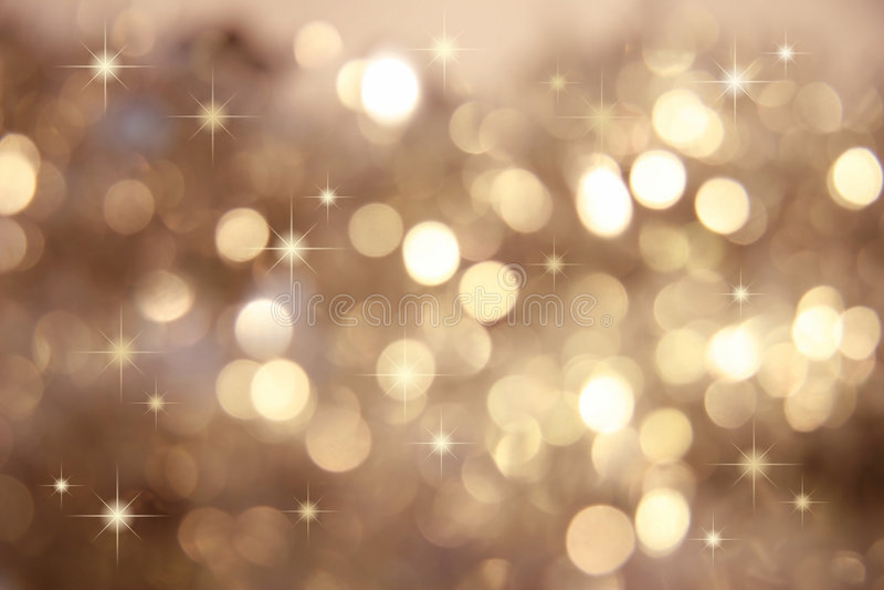 Scintillement, petites étoiles de scintillement/or photo libre de droits