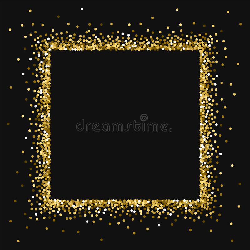 Scintillement rond d'or illustration stock