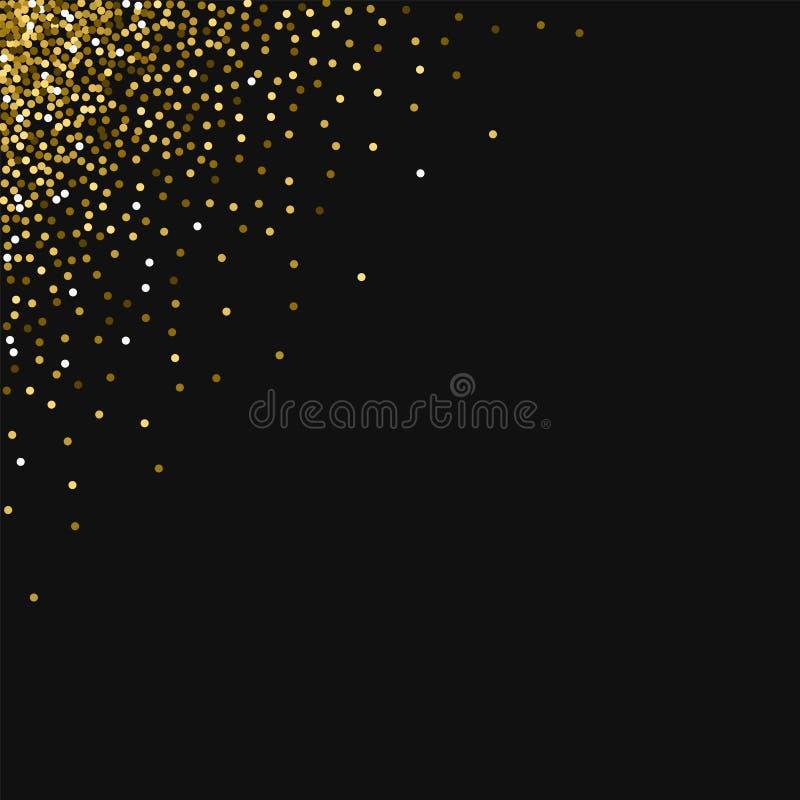 Scintillement rond d'or illustration libre de droits