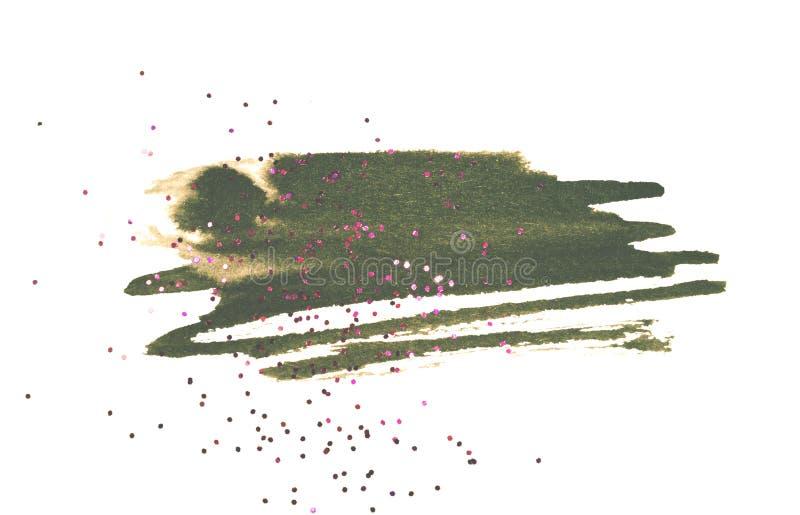 Scintillement rose sur l'éclaboussure noire abstraite d'aquarelle sur le fond blanc images stock