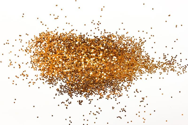 Scintillements d'or d'isolement photo libre de droits