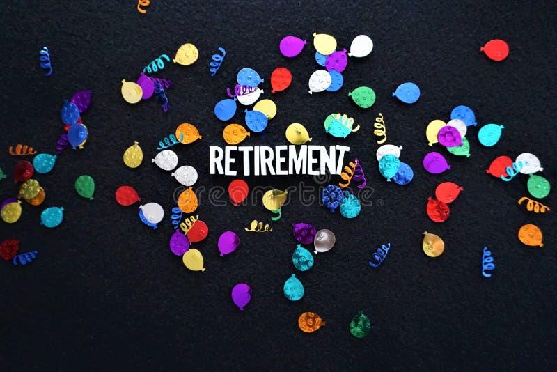 Scintillio frizzante dei palloni di pensionamento fotografia stock libera da diritti