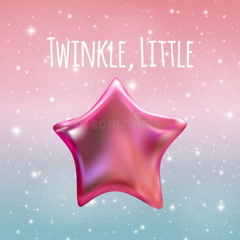 Scintillio poca stella sul fondo del cielo notturno Illustrazione di vettore illustrazione di stock
