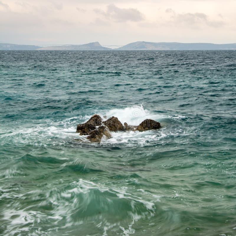 Scirocco na Adriatyckim morzu zdjęcia stock