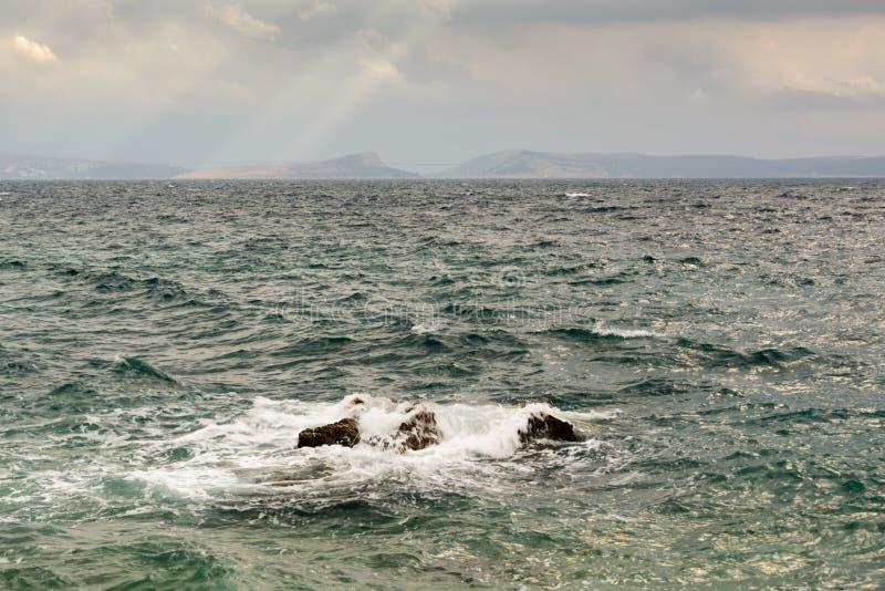 Scirocco sul mare adriatico fotografia stock