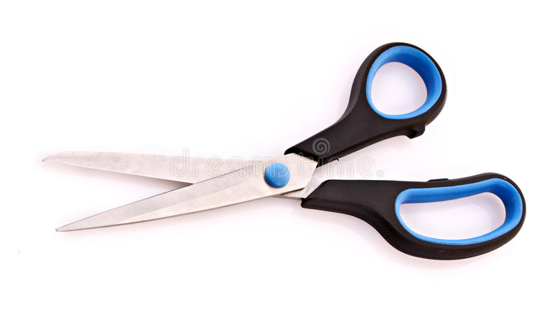 Scissor isolated on white stock photography