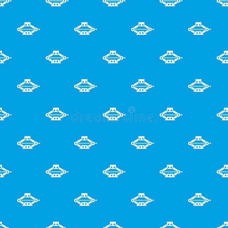 scissor o azul sem emenda do teste padrão do jaque do carro ilustração stock