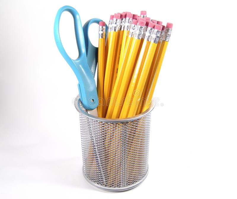 Download Scissor and Pencils stock photo. Image of erase, supplies - 7916