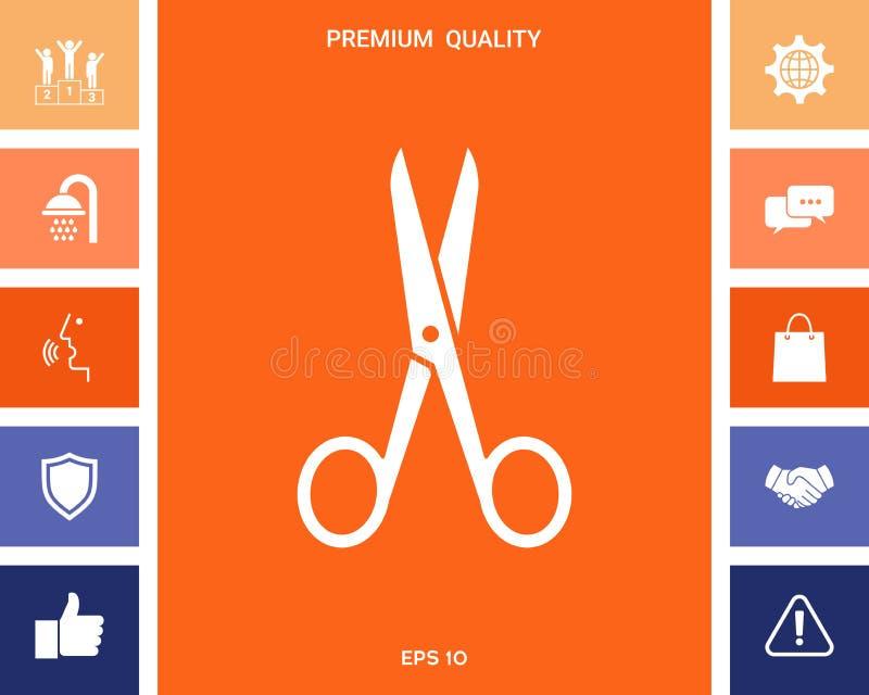 Scissors икона иллюстрация штока