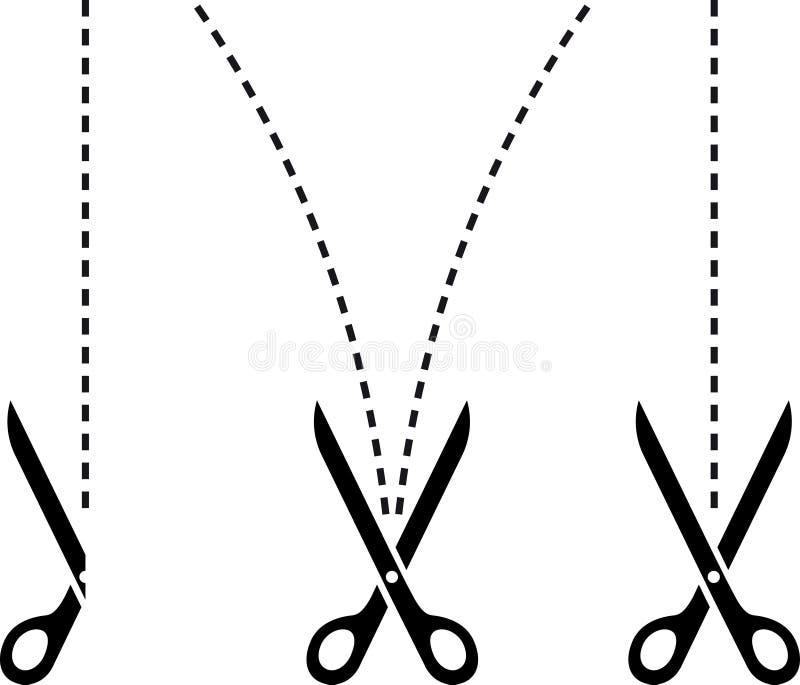 scissors шаблон иллюстрация вектора