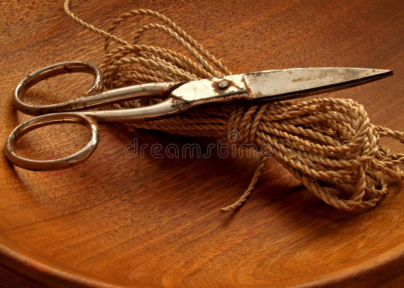 Download Scissors stock image. Image of twine, rusty, tarnished - 1415139
