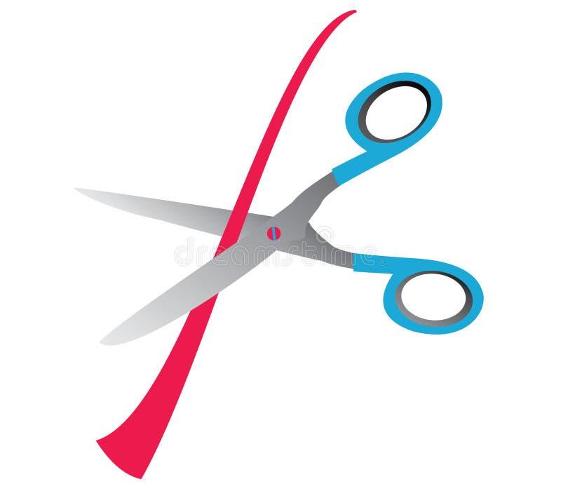 Scissors a abertura grande ilustração do vetor