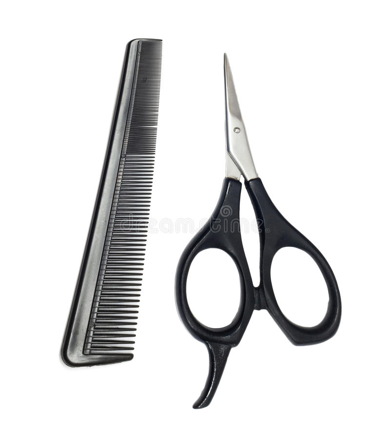 Download Scissors and comb stock photo. Image of beautiful, isolation - 26116456