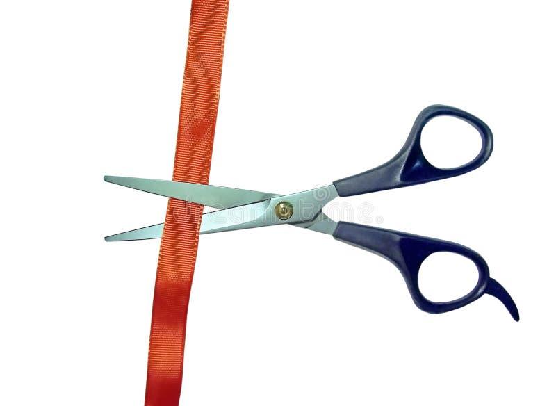 Scissors cut red tape