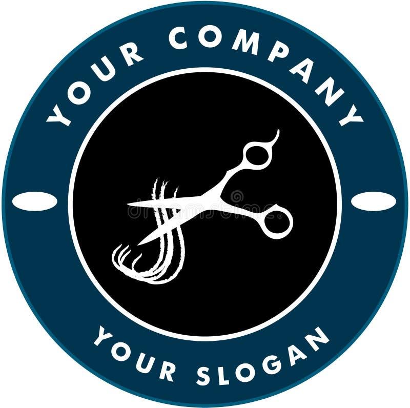Free Scissors Cutting Hair Strand, Hair Solon Logo Royalty Free Stock Image - 11408856