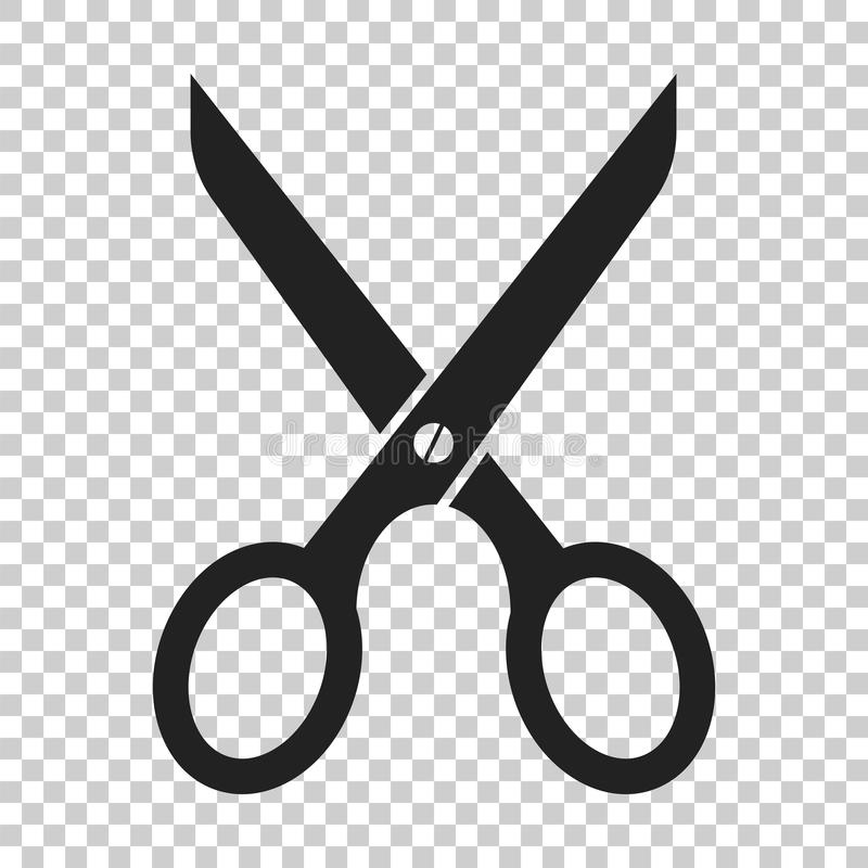 Scissors flat icon. Scissor vector illustration vector illustration