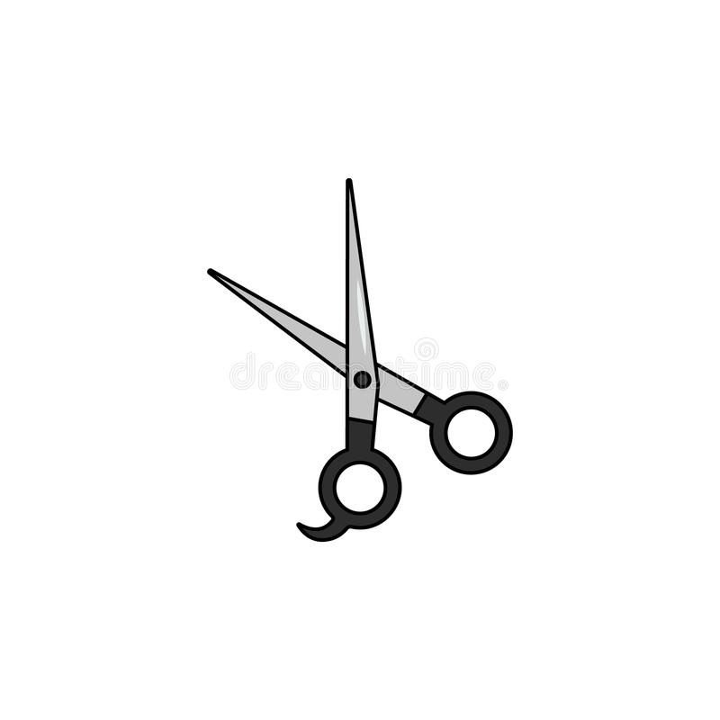 Scissors for hair cutting icon. Simple element illustration. Scissors for hair cutting symbol design from Barbershop collection se stock illustration