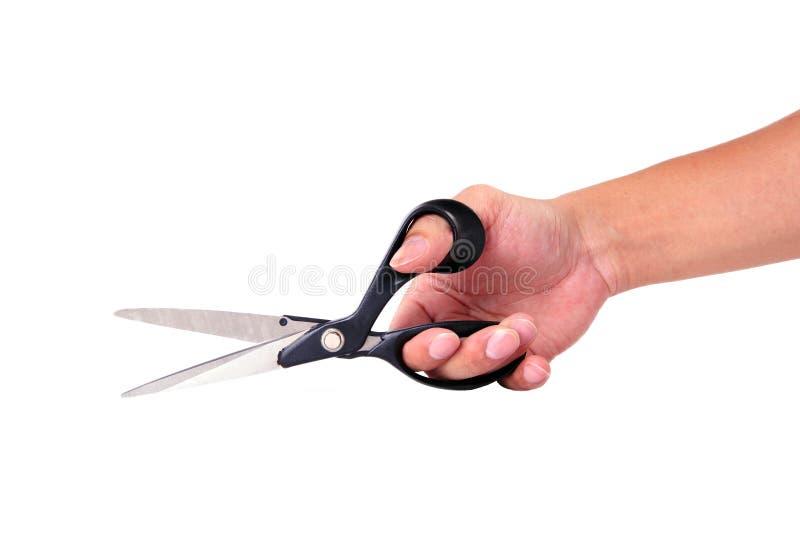 Scissors in hand