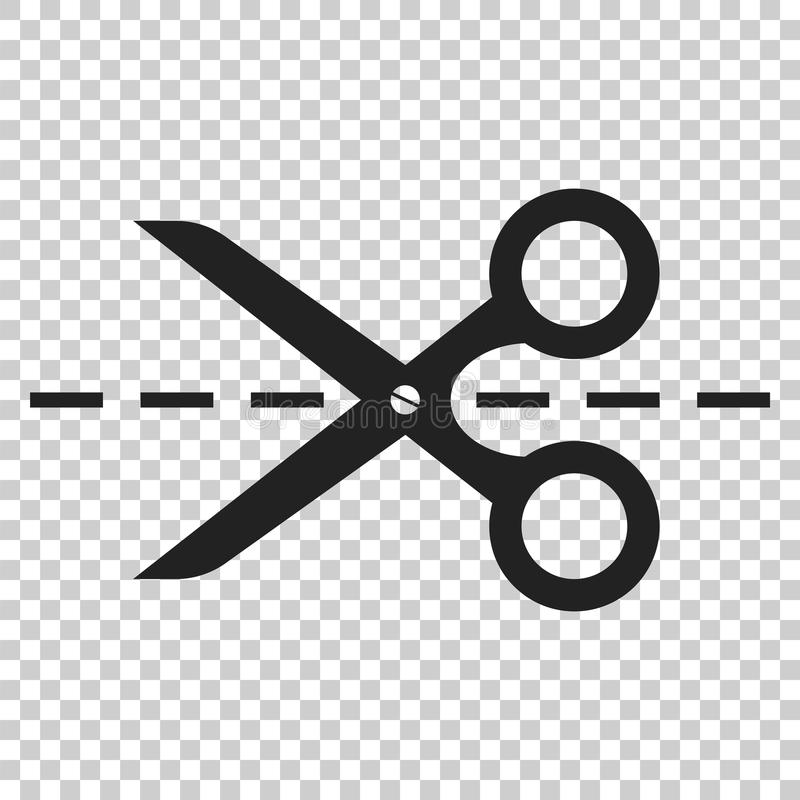 scissors icon with cut line scissor vector illustration stock rh dreamstime com scissors victoria road scissor factory on carver street in sheffield