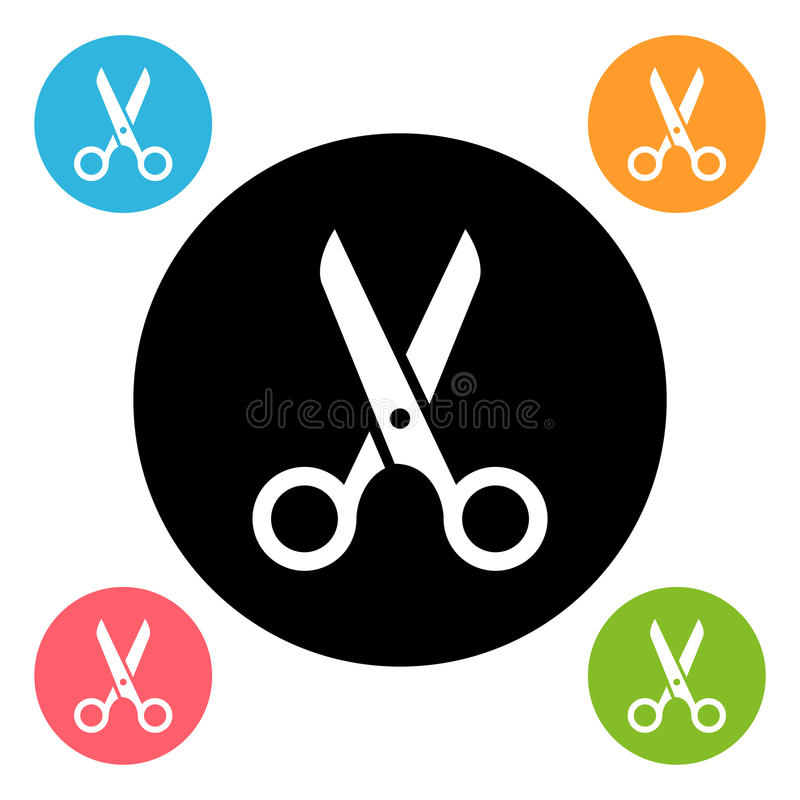 Scissors Ikone vektor abbildung