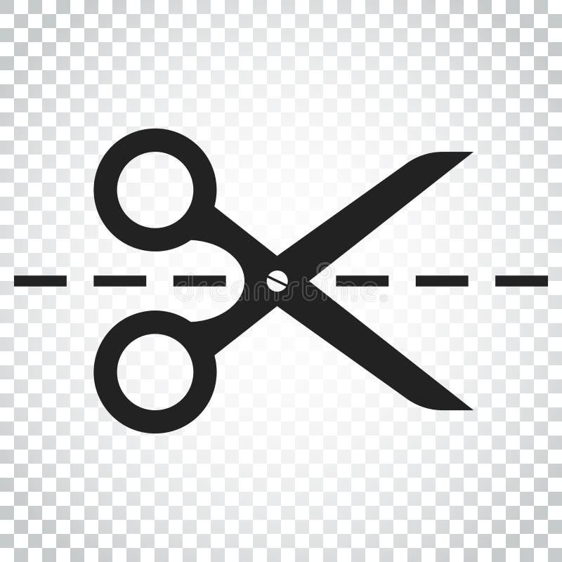 Download Scissors Ikone Mit Schnittlinie Scissor Vektorillustration Einfach Vektor Abbildung - Illustration von element, coiffure: 96936028