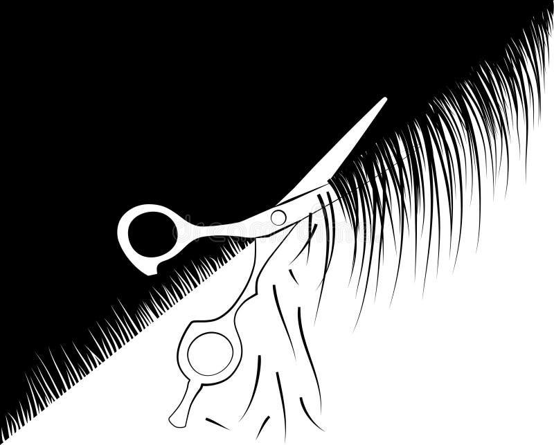 Scissors il parrucchiere royalty illustrazione gratis