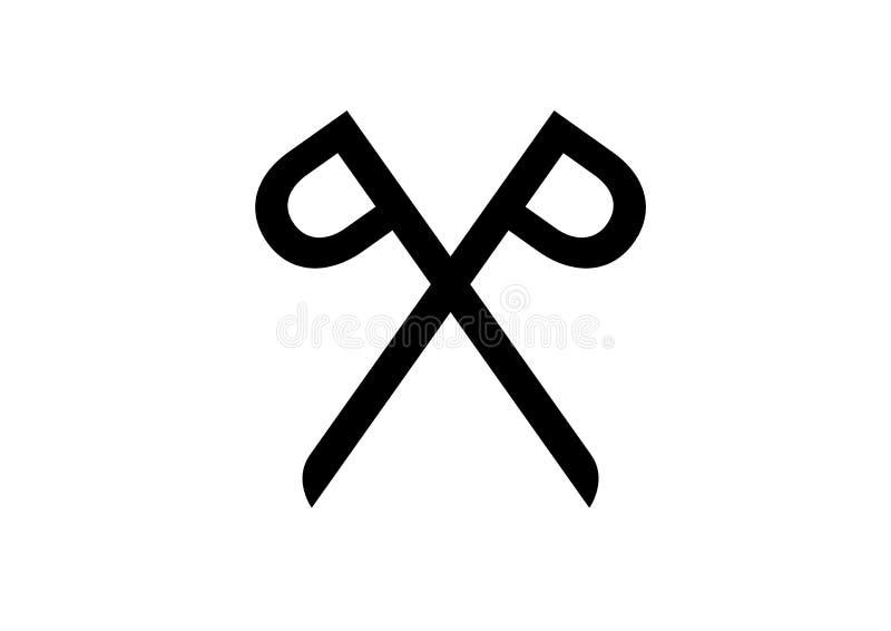 Scissors logo royalty free stock images