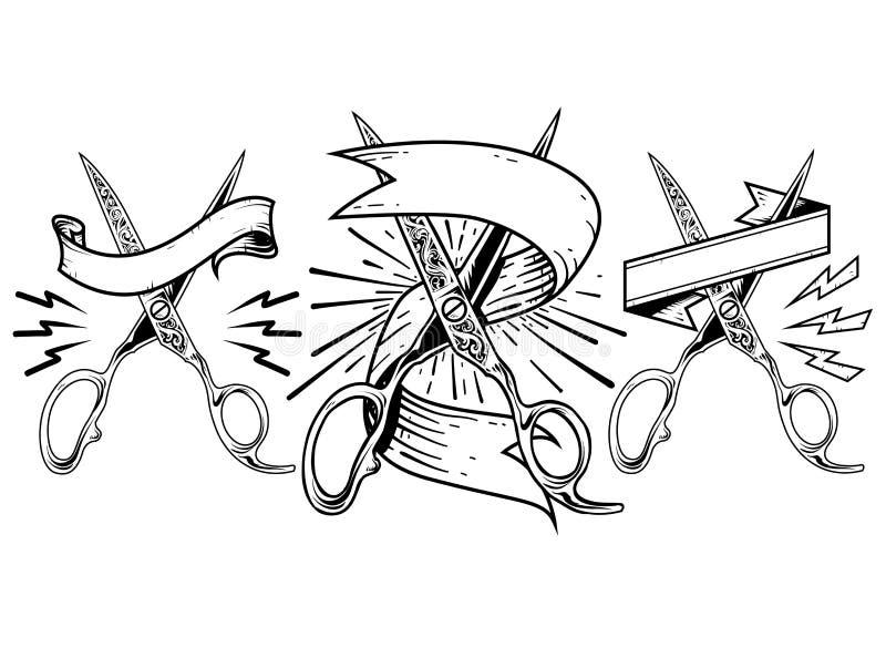 Scissors logo stock photography