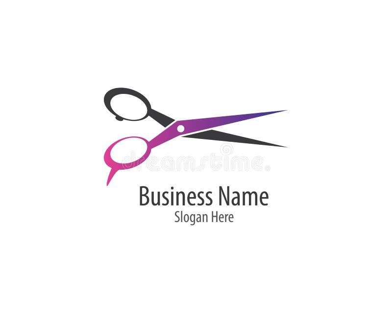 Scissors logo template vector icon illustration. Design, background, barber, black, blade, care, cross, cut, cutting, drawing, edge, equipment, fashion, graphic stock illustration