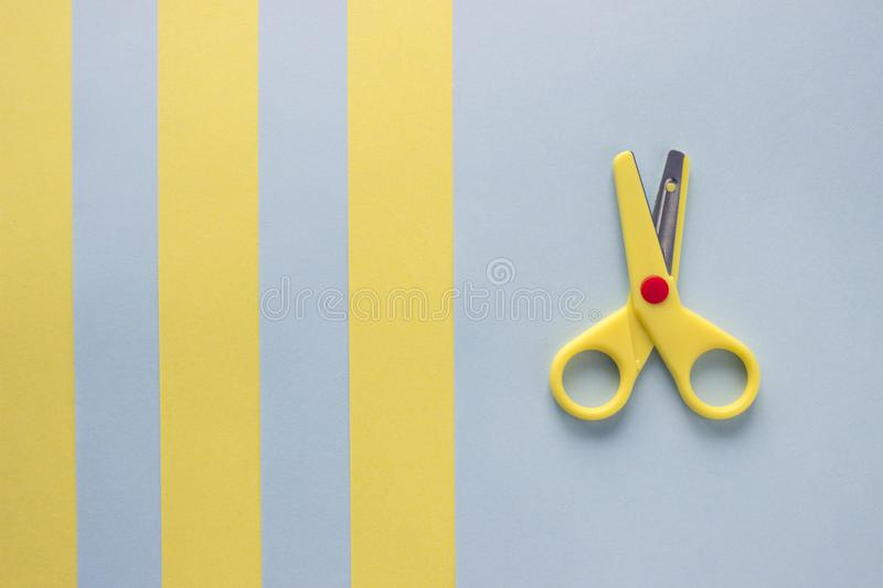 Scissors and paper. royalty free stock photography