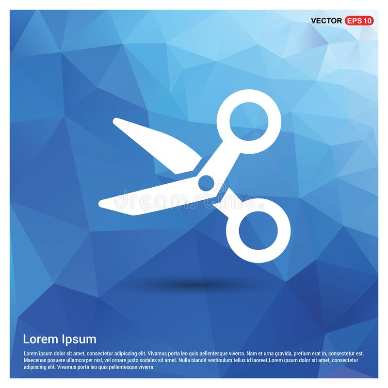 Scissors tool icon. This Vector EPS 10 illustration is best for print media, web design, application design user interface and infographics with well composed vector illustration