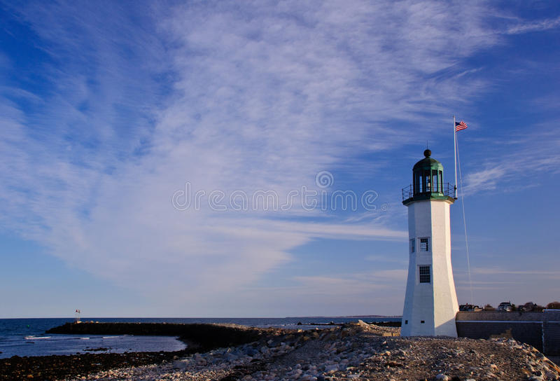 Download Scituate Lighthouse stock photo. Image of rocks, guide - 22701116