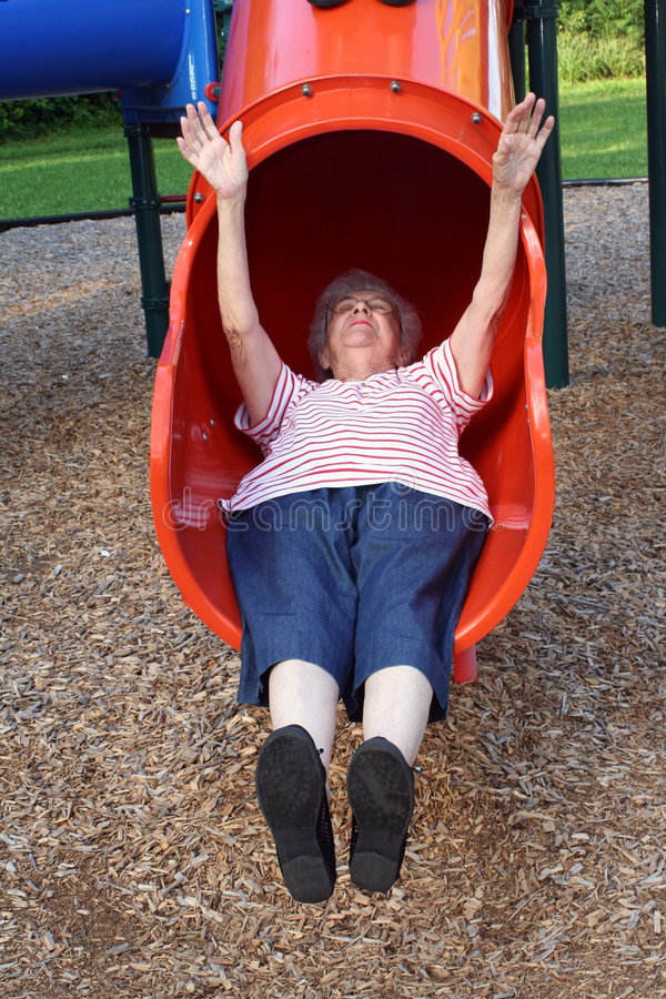 Scivolamento della nonna 5 immagini stock