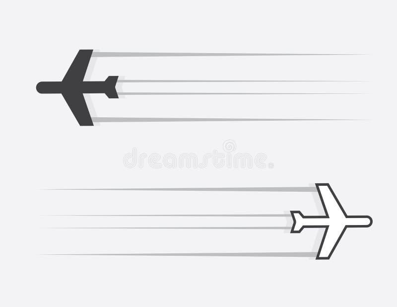 Scivolata dell'aeroplano illustrazione vettoriale