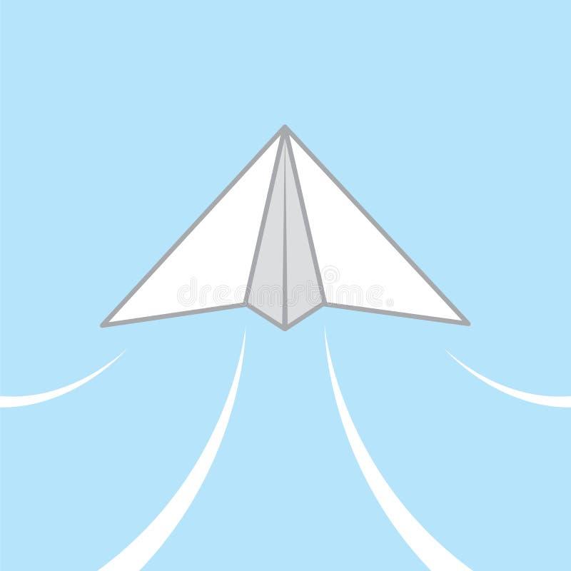 Scivolata dell'aeroplano di carta royalty illustrazione gratis