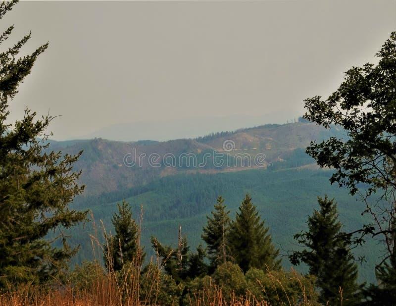 """Scivolata di trascuratezza, siccità di estate dell'Oregon 2018 """" fotografia stock"""