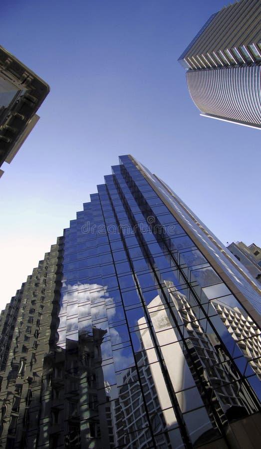 Sckyscrapers van Hongkong stock afbeeldingen