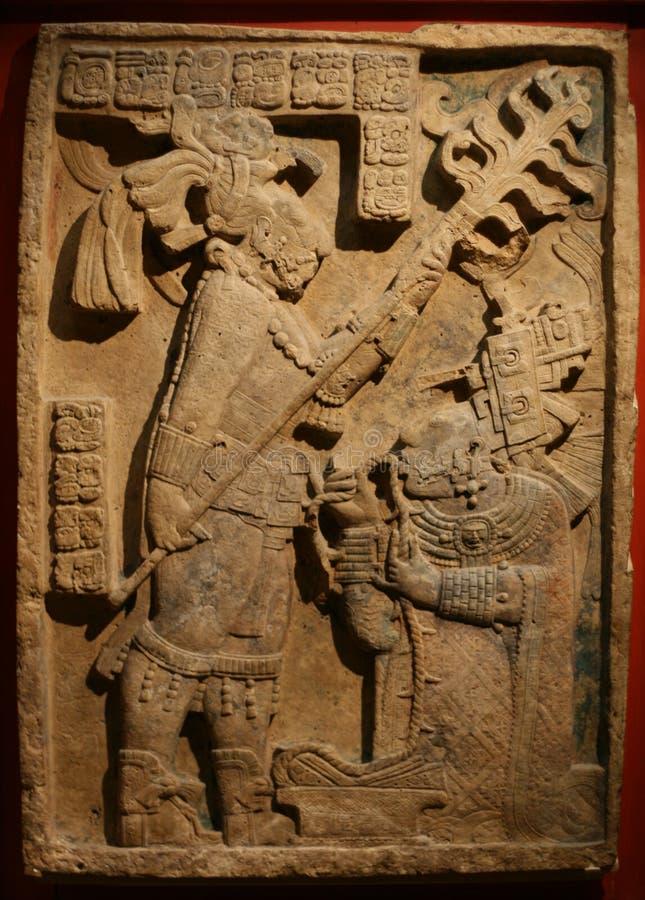 Sclupture asteca foto de stock