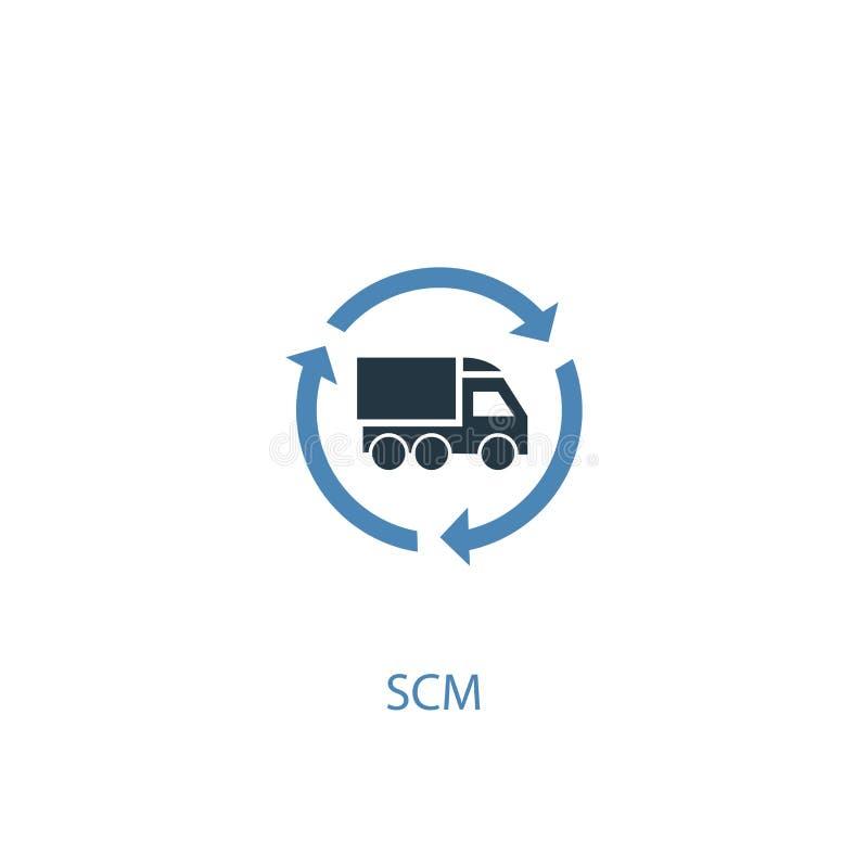 SCM concept 2 colored icon. Simple stock illustration