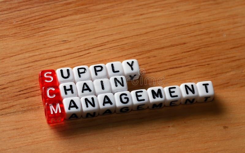 SCM Versorgungskette-Management stockbild