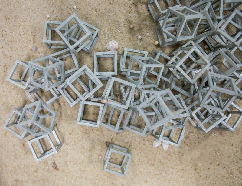 Scogliera artificiale la casa del pesce nel mare fotografie stock libere da diritti