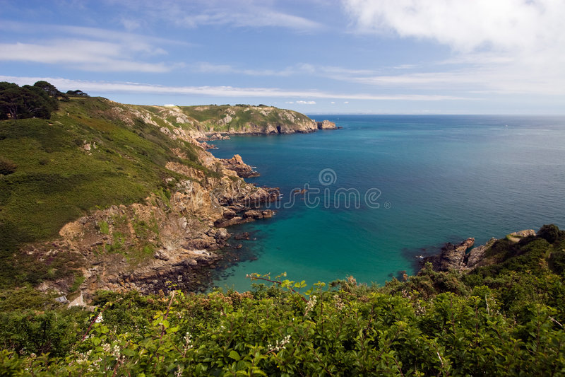 Scogliera del Guernsey fotografia stock