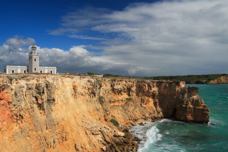 Scogliera di Los Morrillos in Cabo Rojo, Porto Rico immagine stock libera da diritti