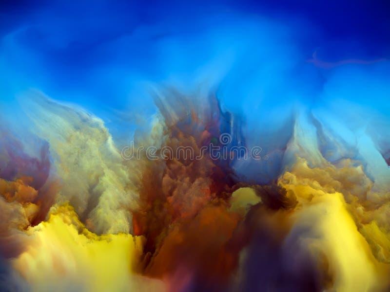Scogliera gialla illustrazione vettoriale