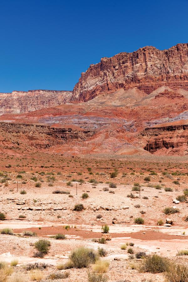 Scogliere del vermiglio di stordimento in Arizona fotografie stock