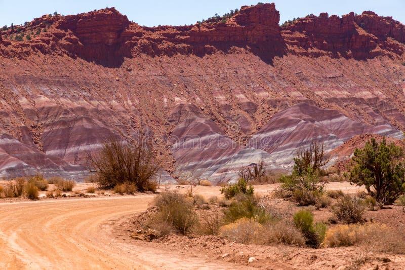 Scogliere del vermiglio vicino a Paria Utah fotografia stock libera da diritti