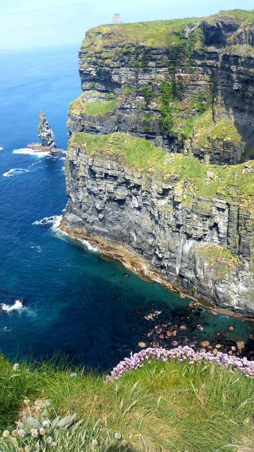 Scogliere dell'Irlanda di Moher fotografia stock