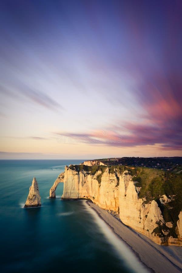 Scogliere di Etretat, Francia immagini stock libere da diritti