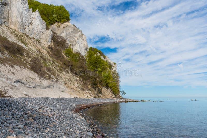 Scogliere di gesso del klint di Moens in Danimarca immagine stock libera da diritti