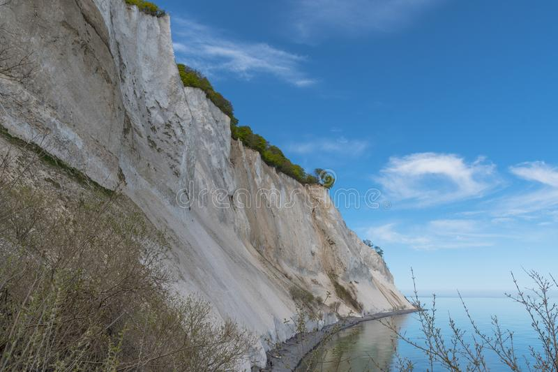 Scogliere di gesso del klint di Moens in Danimarca fotografia stock libera da diritti